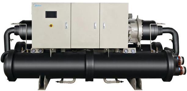 新万博客户端y满液式螺杆水(地)源热泵机组(R134a)